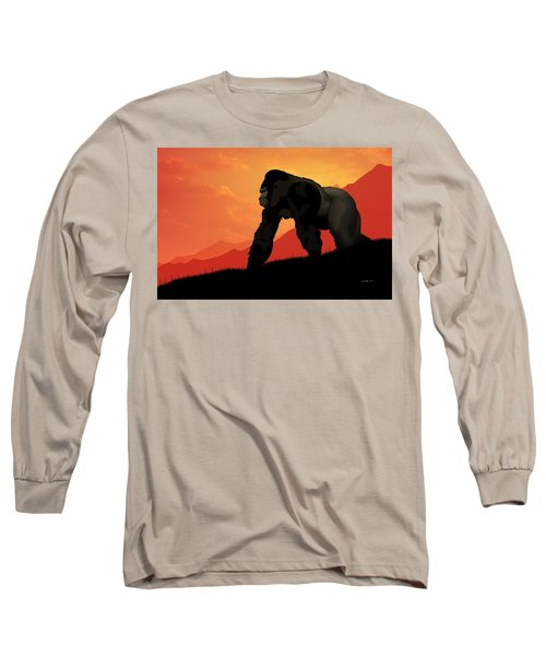 Silverback Gorilla Long Sleeve T-Shirt by John Wills