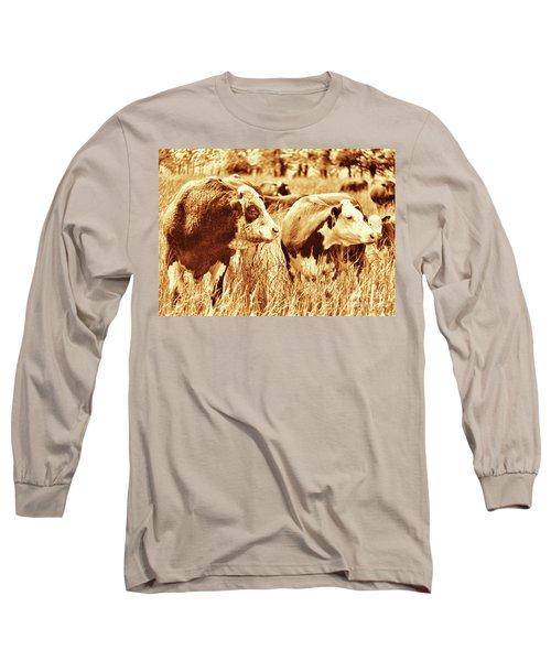 Simmental Bull 3 Long Sleeve T-Shirt by Larry Campbell