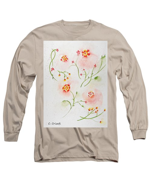 Simple Flowers #2 Long Sleeve T-Shirt by Carol Crisafi