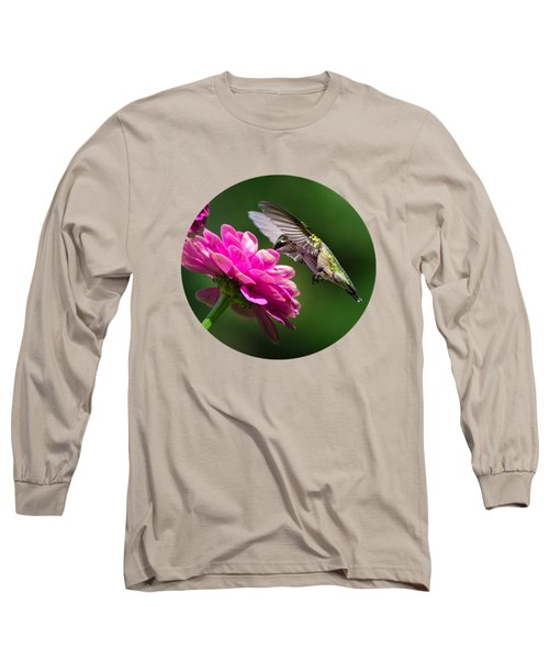 Simple Pleasure Hummingbird Delight Long Sleeve T-Shirt by Christina Rollo