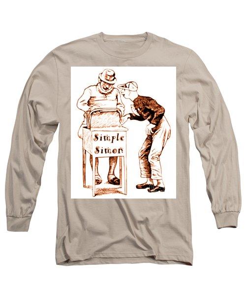Simple Simon Mother Goose Vintage Nursery Rhyme Long Sleeve T-Shirt