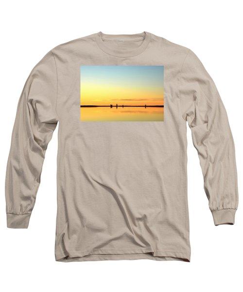 Simple Sunrise Long Sleeve T-Shirt by Fiskr Larsen