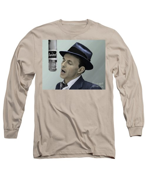 Sinatra - Color Long Sleeve T-Shirt by Paul Tagliamonte