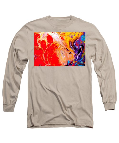 Singer - Colorful Abstract Painting Long Sleeve T-Shirt