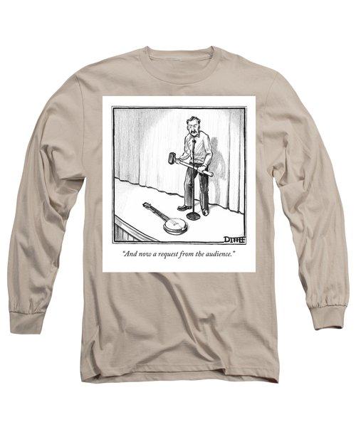 Singer Smashes Banjo Long Sleeve T-Shirt