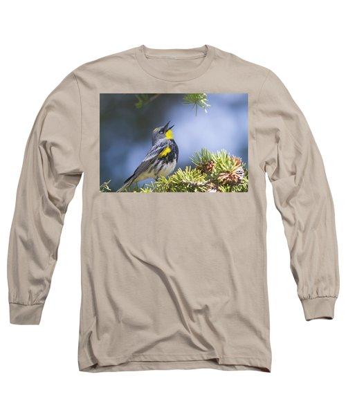 Singing Audubon's Warbler Long Sleeve T-Shirt