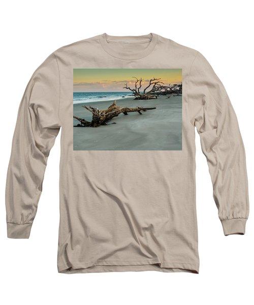 Sunset On Jekyll Island Long Sleeve T-Shirt