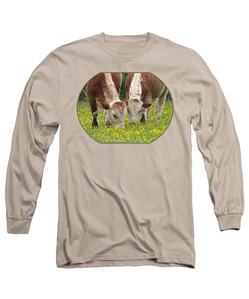 Sisters - Brown Cows Long Sleeve T-Shirt