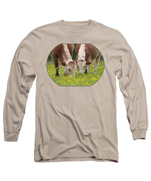 Sisters - Brown Cows Long Sleeve T-Shirt