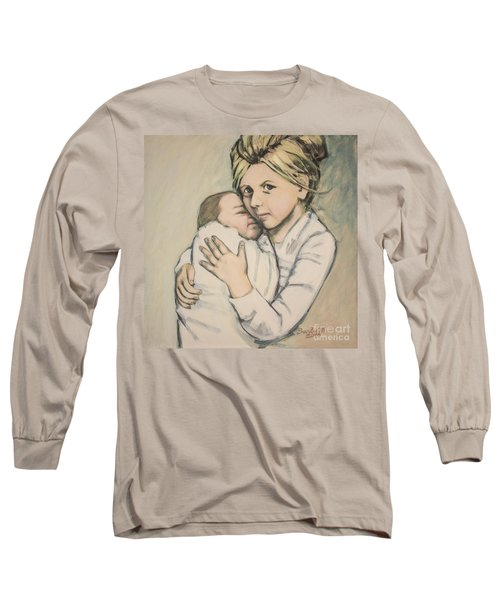 Long Sleeve T-Shirt featuring the painting Sisters by Olimpia - Hinamatsuri Barbu