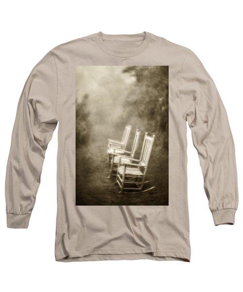 Sit A Spell-sepia Long Sleeve T-Shirt