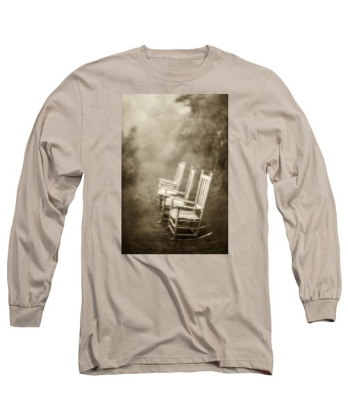 Sit A Spell-sepia Long Sleeve T-Shirt