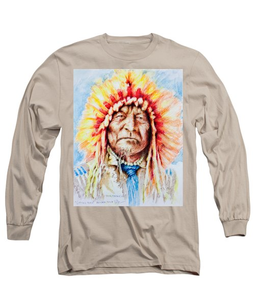Sitting Bear Long Sleeve T-Shirt by Victor Minca