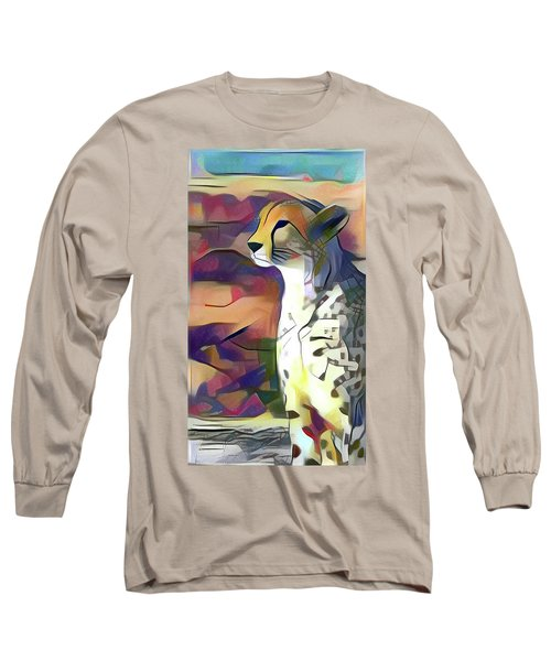 Sitting Cheetah  Long Sleeve T-Shirt