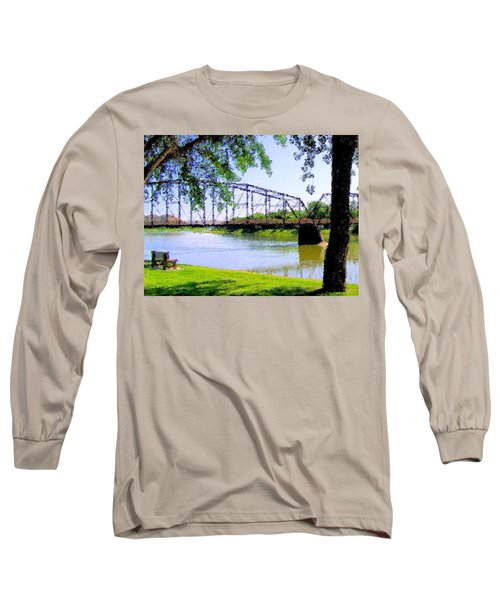 Long Sleeve T-Shirt featuring the photograph Sitting In Fort Benton by Susan Kinney