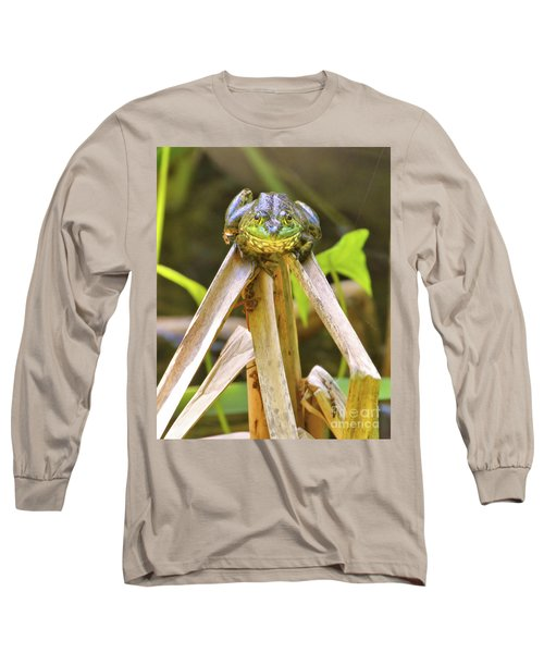 Sitting On Top Of The World Long Sleeve T-Shirt by Debbie Stahre