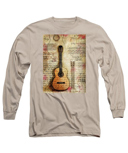 Six String Sages Long Sleeve T-Shirt by Gary Bodnar