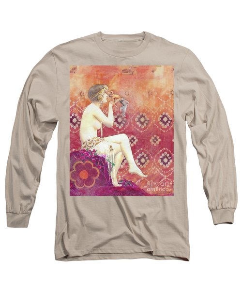 Long Sleeve T-Shirt featuring the mixed media Size Matters Da by Desiree Paquette