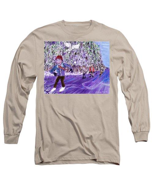 Skating On Thin Ice Long Sleeve T-Shirt