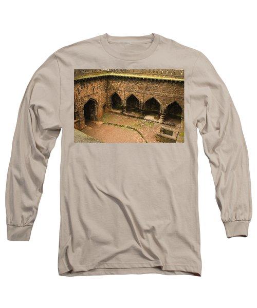 Skc 3278 The Ancient Courtyard Long Sleeve T-Shirt by Sunil Kapadia