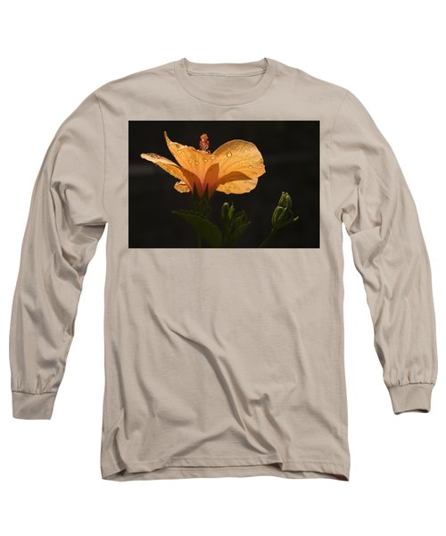 Skc 9937 The Grace Of Hibiscus Long Sleeve T-Shirt by Sunil Kapadia