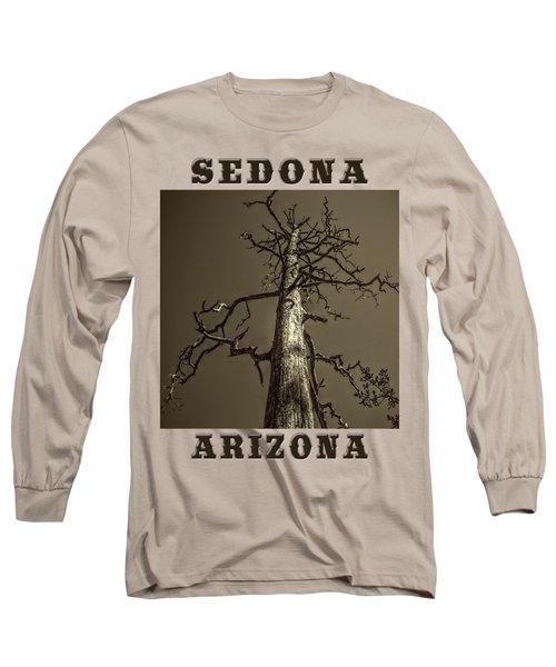 Skeletal Tree Sedona Arizona Long Sleeve T-Shirt