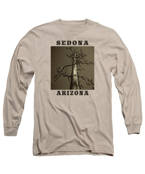 Skeletal Tree Sedona Arizona Long Sleeve T-Shirt