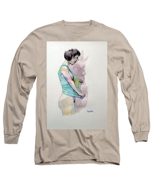 Long Sleeve T-Shirt featuring the painting Sketch For Ac-dc by Ray Agius