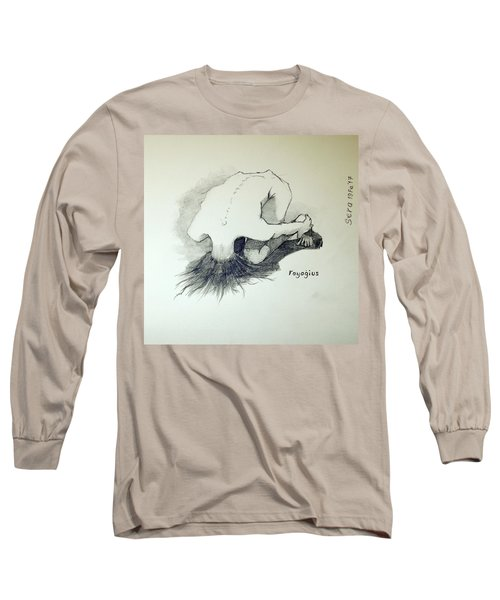 Long Sleeve T-Shirt featuring the painting Sketch Of Sera.10.03 by Ray Agius