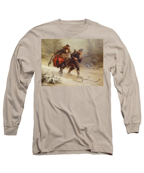 Skiing Birchlegs Crossing The Mountain With The Royal Child Long Sleeve T-Shirt