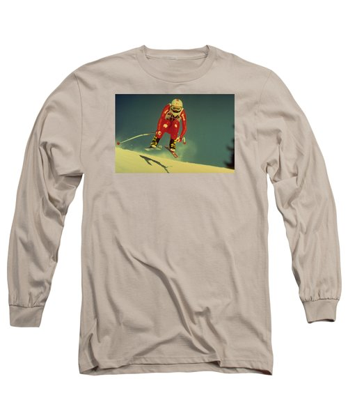Long Sleeve T-Shirt featuring the photograph Skiing In Crans Montana by Travel Pics