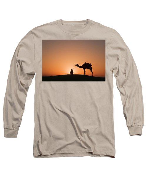 Skn 0893 The Halo Of Sunrise Long Sleeve T-Shirt by Sunil Kapadia