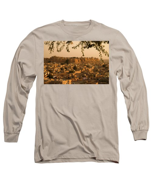 Skn 1334 The Golden City Long Sleeve T-Shirt by Sunil Kapadia