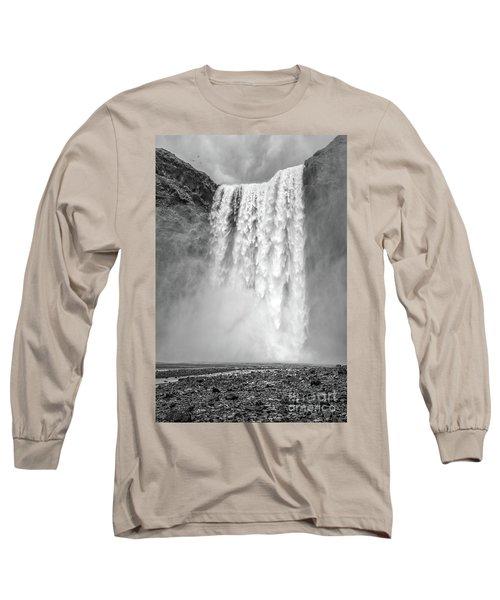 Long Sleeve T-Shirt featuring the photograph Skogafoss Waterfall Iceland by Edward Fielding
