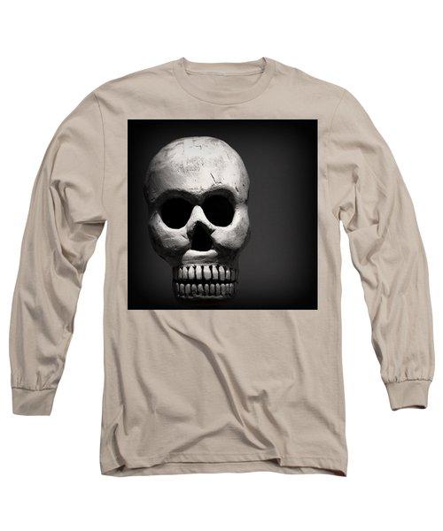 Skull Long Sleeve T-Shirt by Joseph Skompski