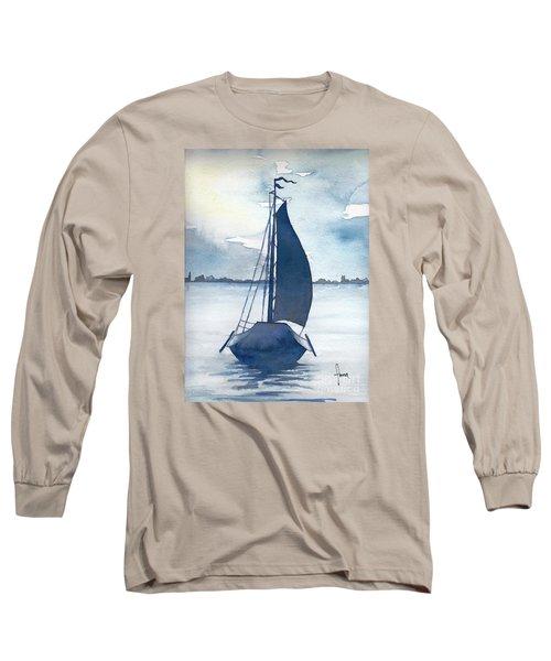 Skutsje No.2 Long Sleeve T-Shirt by Annemeet Hasidi- van der Leij