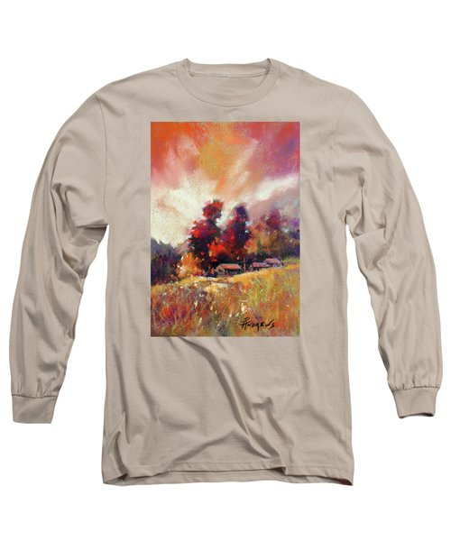 Sky Fall Long Sleeve T-Shirt by Rae Andrews
