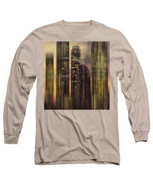 Sky Scrapers Long Sleeve T-Shirt by Vladimir Kholostykh