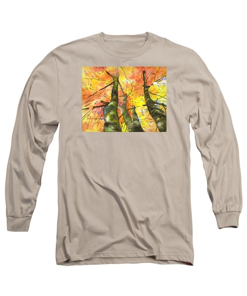 Long Sleeve T-Shirt featuring the painting Sky View by Yolanda Koh
