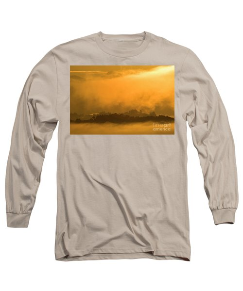 Long Sleeve T-Shirt featuring the photograph sland in the Mist - D009994 by Daniel Dempster