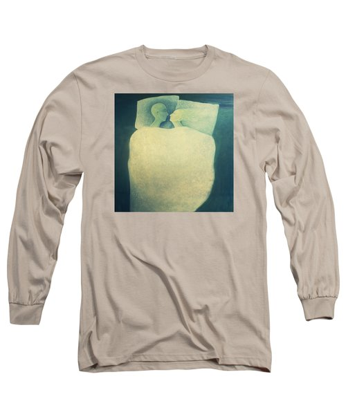 Long Sleeve T-Shirt featuring the painting Sleep - In Love by Tone Aanderaa