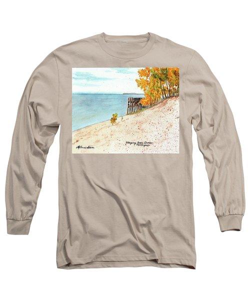 Sleeping Bear Dunes Long Sleeve T-Shirt by LeAnne Sowa