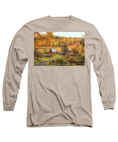 Sleepy Hollow - Pomfret Vermont In Autumn Long Sleeve T-Shirt