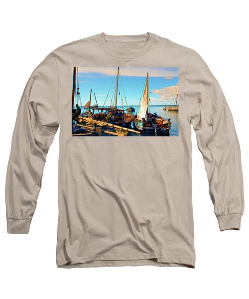 Sleepy Sail Boats Zanzibar Long Sleeve T-Shirt
