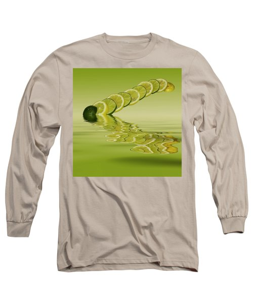 Long Sleeve T-Shirt featuring the photograph Slices Lemon Lime Citrus Fruit by David French
