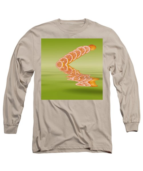 Long Sleeve T-Shirt featuring the photograph Slices Pink Grapefruit Citrus Fruit by David French