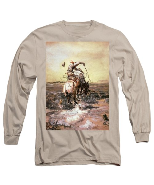 Slick Rider Long Sleeve T-Shirt by Charles Russell
