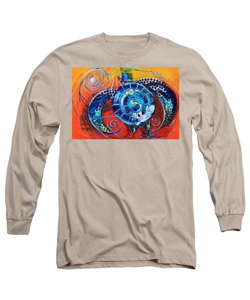 Slopical Tropical Sea Turtle Long Sleeve T-Shirt