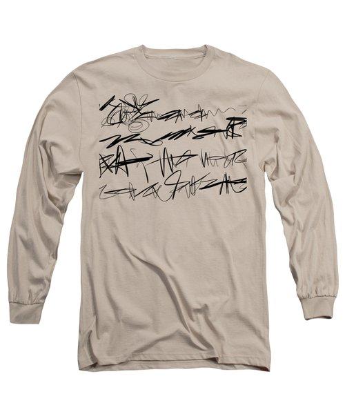 Sloppy Writing Long Sleeve T-Shirt