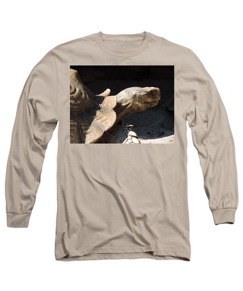 Slow But Sure Long Sleeve T-Shirt by Teresa Schomig